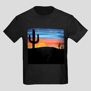 Cactus Sunset Kids Dark T-Shirt