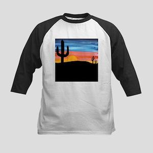 Cactus Sunset Kids Baseball Jersey