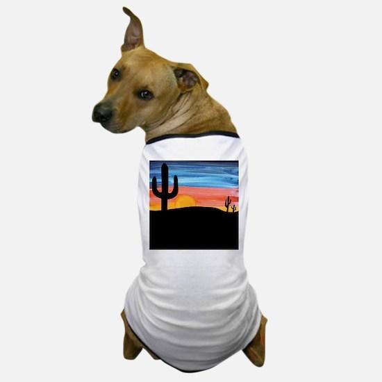 Cactus Sunset Dog T-Shirt