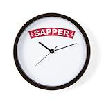 Sapper Freemasons Wall Clock