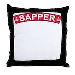 Sapper Freemasons Throw Pillow