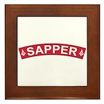 Sapper Freemasons Framed Tile