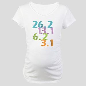 runner distances Maternity T-Shirt