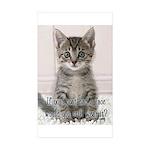 Cat Coat Sticker (Rectangle 50 pk)
