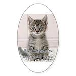 Cat Coat Sticker (Oval 50 pk)