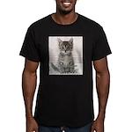 Cat Coat Men's Fitted T-Shirt (dark)