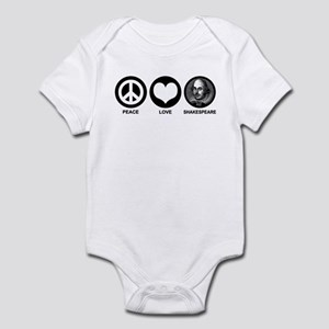 Peace Love Shakespeare Infant Bodysuit