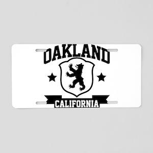 Oakland Heraldry Aluminum License Plate