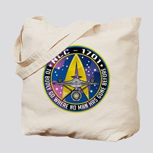 NCC-1701 Mission Patch Tote Bag