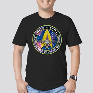 NCC-1701 Mission Patch Men's Fitted T-Shirt (dark)
