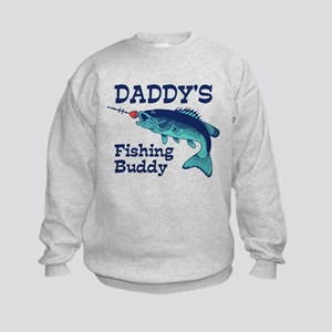 Daddy's Fishing Buddy Kids Sweatshirt