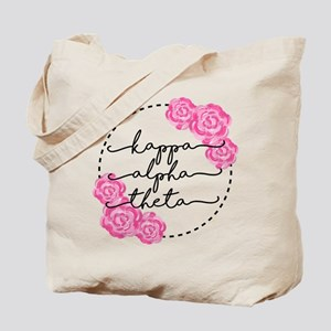 Kappa Alpha Theta Floral Tote Bag