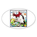 Cat Cancer Sticker (Oval 10 pk)