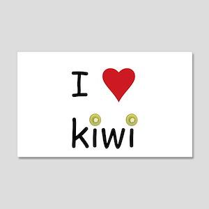 I Love Kiwi 20x12 Wall Decal
