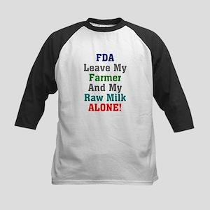 FDA Leave My Farmer and My Ra Kids Baseball Jersey