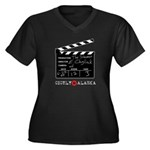 Chigliak Clapboard Women's Plus Size V-Neck Dark T