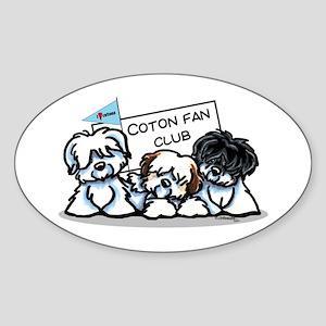 I Love Cotons Sticker (Oval)