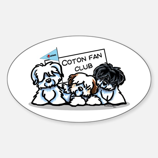 I Love Cotons Sticker (Oval)
