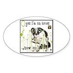 Cat Aries Sticker (Oval 50 pk)