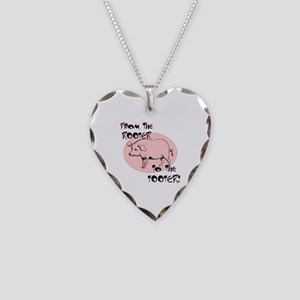 Rooter Tooter Necklace Heart Charm
