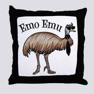 Emo Emu Throw Pillow