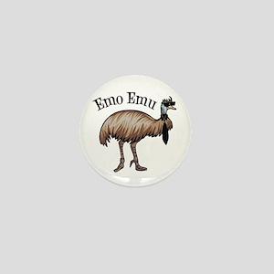 Emo Emu Mini Button