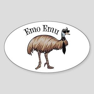 Emo Emu Sticker (Oval)