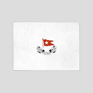 White Star Logo 5'x7'Area Rug