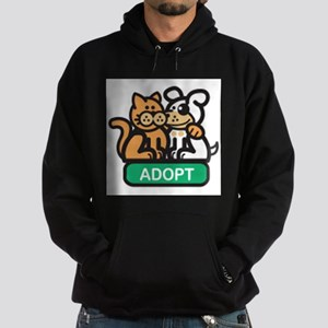 adopt animals Hoodie (dark)