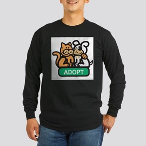 adopt animals Long Sleeve Dark T-Shirt