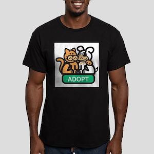 adopt animals Men's Fitted T-Shirt (dark)