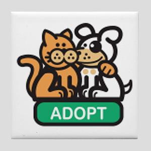adopt animals Tile Coaster