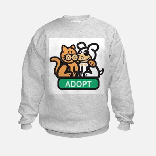 adopt animals Sweatshirt