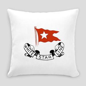 White Star Logo Everyday Pillow