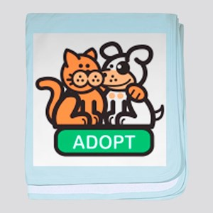 adopt animals baby blanket