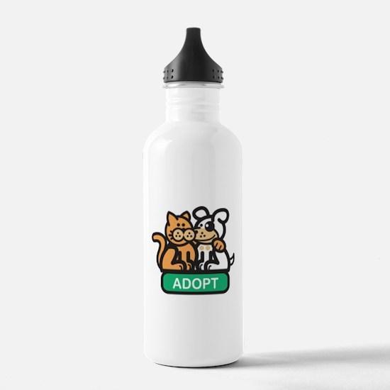 adopt animals Water Bottle