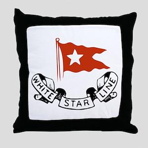 White Star Logo Throw Pillow