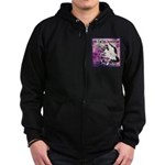 Cat Aquarius Zip Hoodie (dark)