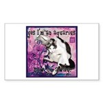Cat Aquarius Sticker (Rectangle 50 pk)