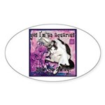 Cat Aquarius Sticker (Oval 50 pk)