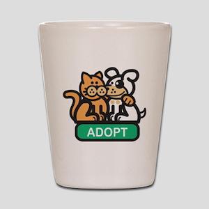 adopt animals Shot Glass