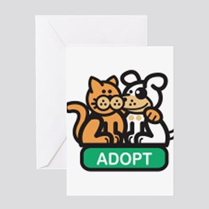 adopt animals Greeting Card