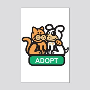 adopt animals Mini Poster Print