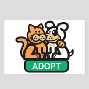 adopt animals Postcards (Package of 8)