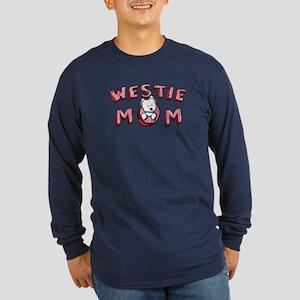 Westie Mom (Red) Long Sleeve Dark T-Shirt