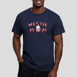 Westie Mom (Red) Men's Fitted T-Shirt (dark)