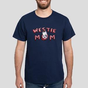 Westie Mom (Red) Dark T-Shirt