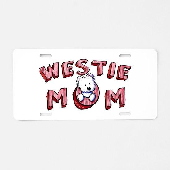 Westie Mom (Red) Aluminum License Plate