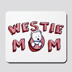 Westie Mom (Red) Mousepad