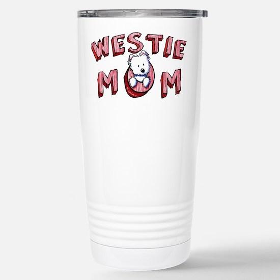Westie Mom (Red) Stainless Steel Travel Mug